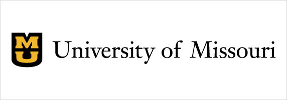 University of Missouri signature on white background with black shield and gold stacked