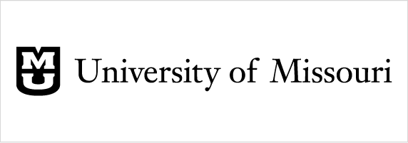 University of Missouri signature on white background with black shield and white stacked