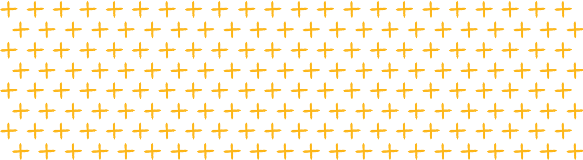Example of the Mizzou brand organic plus pattern. Gold organic plus symbols are laid out in a grid pattern.
