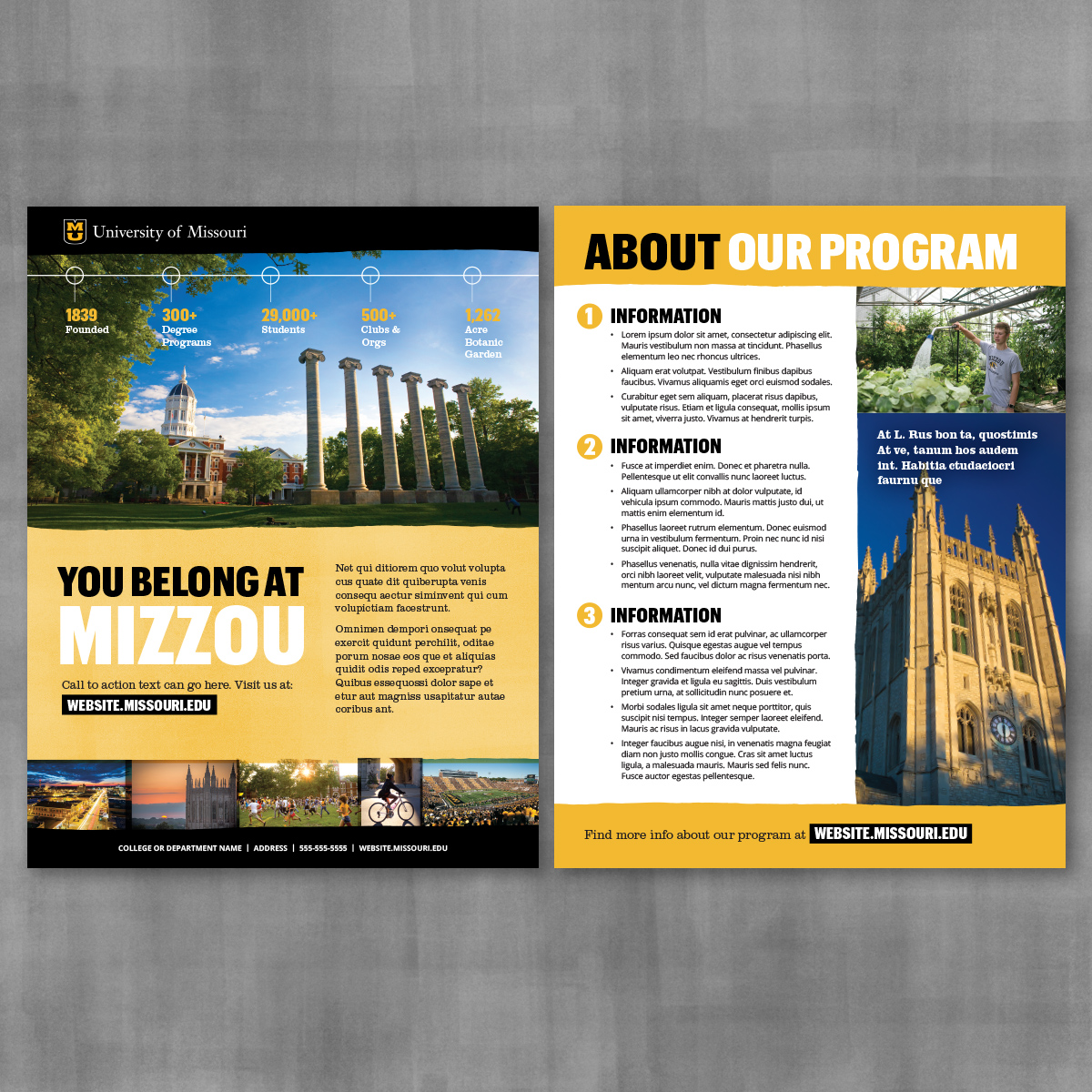 Two sided brochure template